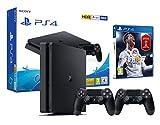 PS4 Slim 500Gb Negra Playstation 4 Consola - FIFA 18 + 2 Mandos Dualshock 4