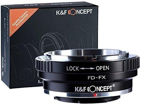 K&F Concept Adapter Fuji FX ∙ Kompatibel mit Fuji X-Mount Kamera ∙ Objektivadapter für Canon FD Objektiv