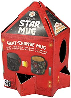Ginger Fox Star Constellations Heat Changing Novelty Mug - Watch The Starry Night Sky Transform to 6 Constellations
