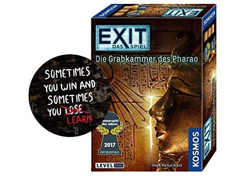 Collectix Exit – Das Spielel, Die Grabkammer des Pharao, Escape Room Juego para casa Level Profi + 1 x Exit Sticker