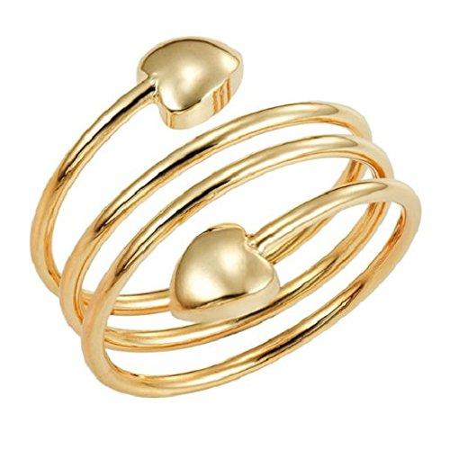 Magnetischer Kupferring mit Magneten - Gold Serpentin