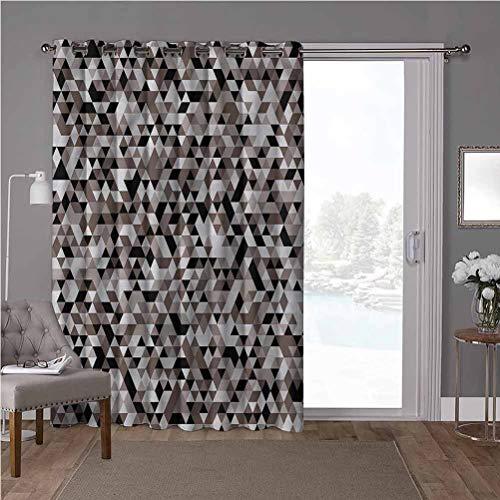 YUAZHOQI - Cortina térmica para puerta corredera, geométrica, tonos borrosos de color, 100 x 96 pulgadas, protección de privacidad para sala de estar (1 panel)