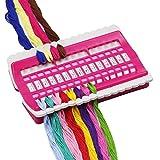 Organizador de hilo de plástico reutilizable para punto de cruz D&D, soporte de 30 agujas enhebradas multifunción, accesorio de manualidades rosso
