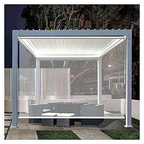 XJJUN Transparenter Rollo, wasserdichte, Regenfeste UV-beständige Trennvorhänge Im Freien, Für Supermarkt-Büro (Color : Klar, Size : 1x3m)