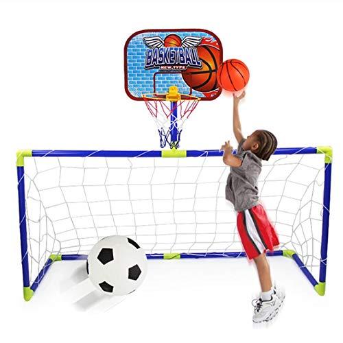 CYSHAKE Canestro 2 in 1 Bambini Outdoor Football Goal Basket Basket Basket Bambini Sport for Bambini Beni Sportivi