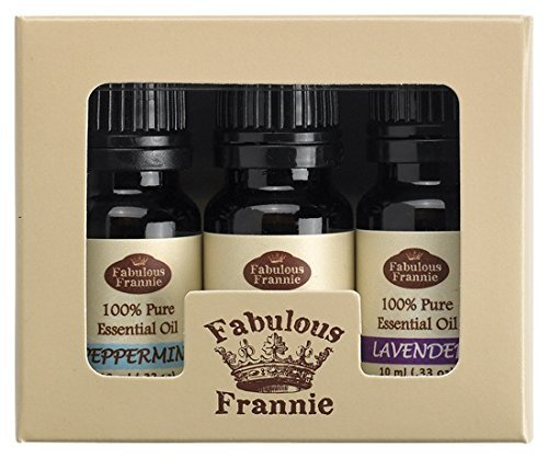 100% Pure Essential Oil Set - Peppermint, Sweet Orange, Lavender - Great for Aromatherapy