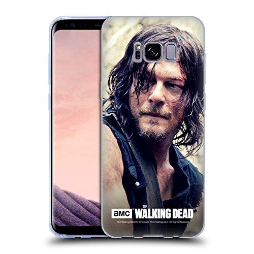 Head Case Designs Offizielle AMC The Walking Dead Körperhälfte Daryl Dixon Soft Gel Huelle kompatibel mit Samsung Galaxy S8+ / S8 Plus