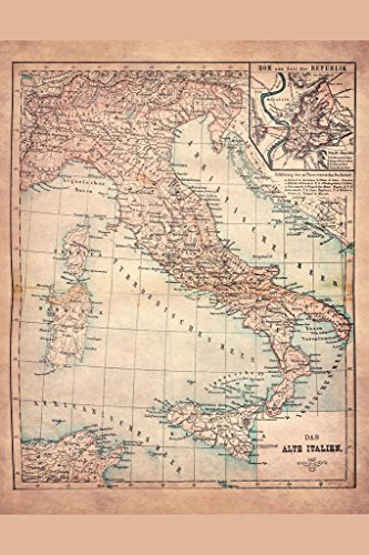 Old Italy 1883 Historical Antique Style Map Cool Huge Large Giant Poster Art 36x54
