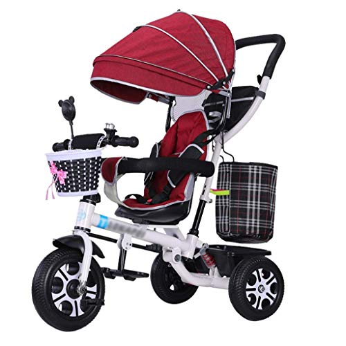 Save %50 Now! GFF Pushchair Multifunctional 4-in-1 Children Bike Kids' Tricycle Stroller Quick Fold ...