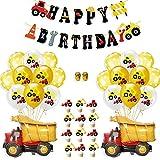 Bagger festa di compleanno per bambini, 35 pezzi BAU compleanno Party decorazioni, camion palloncini palloncini palloncini palloncino per camion auto zona sotto il motto Party Favors decorazione