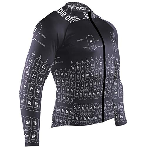 SLHFPX Chemistry Periodic Mens Cycling Jersey Coat Full Sleeve Outdoor Riding Clothes Outfit