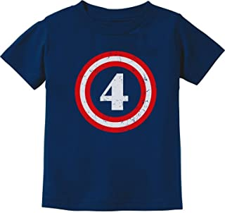 Captain 4th Birthday - Gift for Four Years Old Toddler/Infant Kids T-Shirt