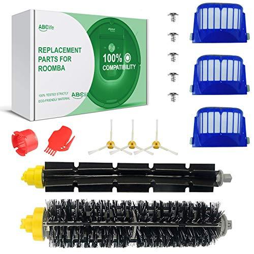 Ersatzteile für iRobot Roomba 600 Serie Wartungskit Reinigungskit für 600650 620 651 621 615 616 605 Bürsten Filter Ersatzset ABClife (15er Kits)