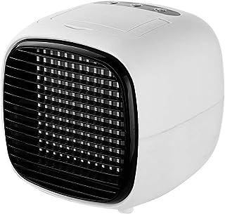 Deajing Aire Acondicionado Portatil Pequeño Enfriador Recargable Mini Ventilador de Aire Acondicionado Silencioso Portátil Refrigerador de Aire de Escritorio Pequeño Purificador de Aire (Blanco)