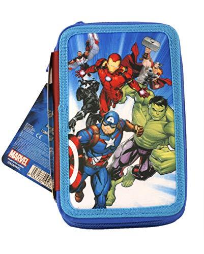 Astuccio Avengers A Tre Piani Scomparti Per 43 Pezzi. Idea Regalo