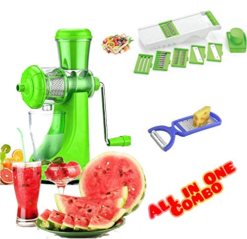 Redfam Combo Of Fruit & Vegetable Premium Manual Hand Juicer Mixer, (2...