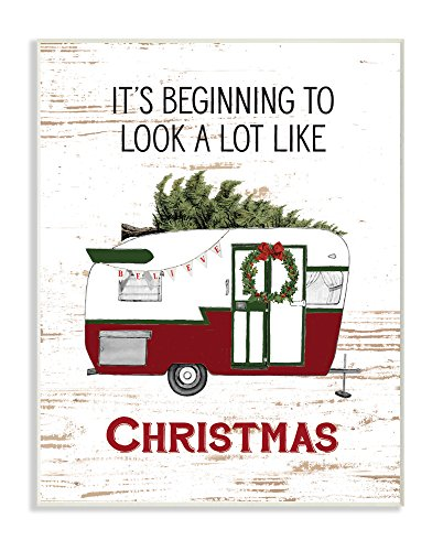 The Stupell Home Décor Collection Looks A Lot Like Christmas Camper Wall Plaque Art, 10' x 15'