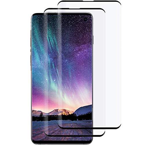 Verre Trempé pour Samsung S10,[2 pièces] Film Protecteur Vitre en Protecteur d'écran Dureté 9H,3D Touch,Anti-Rayures,9H Dureté pour Samsung Galaxy S10