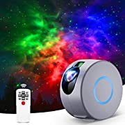 Vinpie Star Light, Kids Star Night Light Projector with Remote Control, LED Nebula Galaxy Projector for Baby Adults Bedroom/Home Theater/Game Rooms/Room Decor/Party/Night Light Ambiance (Grey)