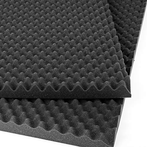 AcousPanel 12 Planchas de espuma acústica. Paneles acústicos absorbentes de sonido con diseño Alveolar.60x60 cm. Color gris antracita.