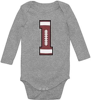 Tstars Gift for 1 Year Old Boy Football 1st Birthday Baby Boy Baby Long Sleeve Bodysuit
