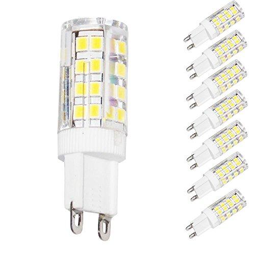Lampaous G9 LED Lampe,Led G9 Leuchtmittel,Warmweiß, 5W ersetzt für 35-40 Watt Halogenlampe,350LM G9 Energiesparlampen,360 Grad Abstrahlwinkel,220-240VAC,8er Pack