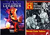 The History Channel : Navajo Code Talkers , Native American Legends : Indian Heroes 2 Pack Collection image