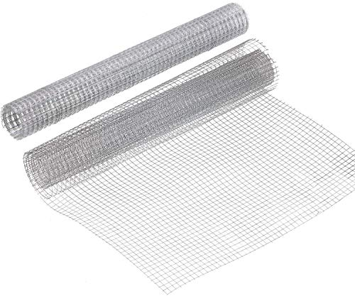 Activists 13.7 x 40 Inch Hardware Cloth 1/4 Inch Square Galvanized Welded Cage Wire Metal Mesh for Craft Work Chicken Coop Snake Fencing 2 Roll