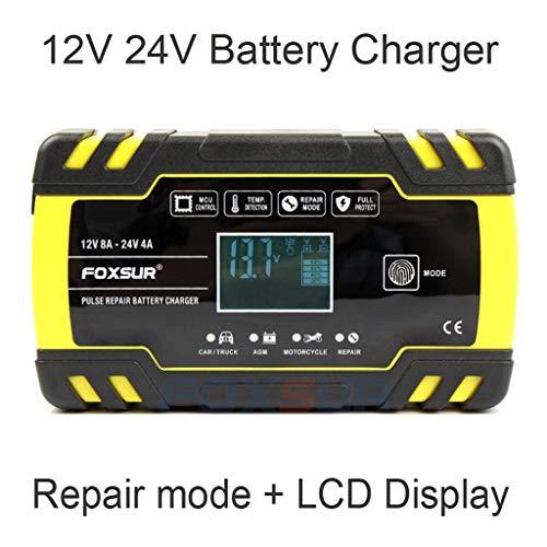 Acculader, volautomatische pulse-reparatie, AGM-acculader, acculader en maintainer, voor kosten gebruik, onderhoud en reparatie van auto's en motorfietsen.