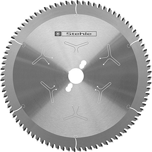 Stehle HW KKS-hardplastic - Hoja de sierra tronzadora para perfiles de plástico extremadamente duros (254 x 2,8 y 1,8 x 30 mm, 80 dientes planos trapezoidales negativos con ranurado en ambos lados)