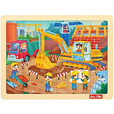 LOL-FUN 24 Piece Puzzles for Kids Ages 3-5, Wooden Jigsaw Puzzle for Toddlers 2-4 Year Old