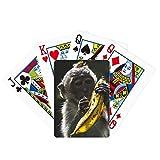 Organismo terrestre Animal Monkey Poker Jugando Magic Card Fun Juego de mesa
