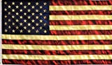 MWS 3x5 USA American 50 Star Tea Stained Vintage Super Polyester Nylon Flag 3'x5' House Banner 90cm x 150cm Grommets Double Stitched Premium Quality Indoor Outdoor Pole Pennant (Brand New)