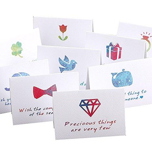 (moin moin) メッセージ カード カラフルスタンプ 一言メッセージ付 使いやすい 封筒 + ミニカード 9種セット