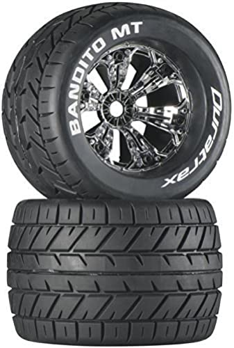 Duratrax Bandito MT 3.8 Mounted 1 2 Offset Tyre (Set of 2), Chrome by DuraTrax
