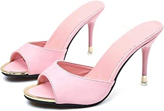 Womens High Heeled Sandals Slippers Mules Shoes Womens Pumps
