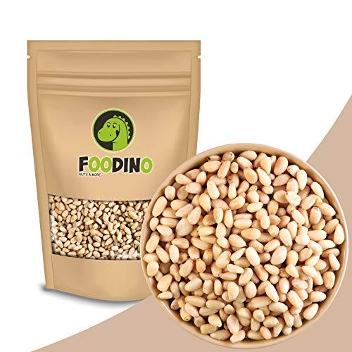 Pinienkerne naturbelassen ungeröstet ungesalzen roh Pinien Kerne ganz ungeschwefelt geschält ohne Haut 100% Natural 500g - 5kg wiederverschließbar Premium Qualität FOODINO (1kg)