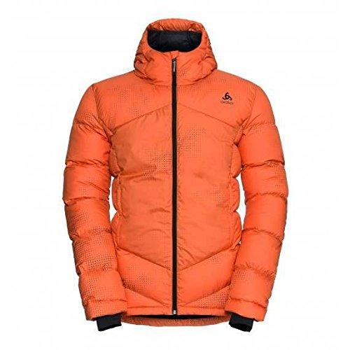 Odlo Herren Jacket Cocoon X Daunenjacken, Orangeade AOP, XXL