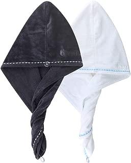 2 Pack Bigger Plus Size Hair Towel Wrap Turban Microfiber Drying Bath Shower Head Towel..