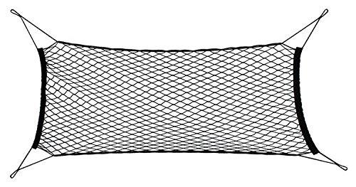 SiaMed Kofferraumnetz mit Befestigungsmaterial - Kofferraum Organizer - Verbessertes Konzept 2020 - Universales Auto-Netz nutzbar als Gepäcknetz oder als Sicherheitsnetz, schwarz