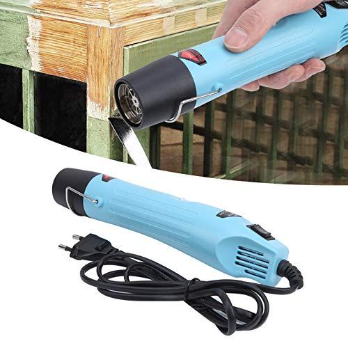 Pistola de aire caliente de 300 W, pistola de aire caliente eléctrica, herramienta de manualidades DIY (enchufe de la UE 220 V) GJ-803 con boquillas, herramienta industrial