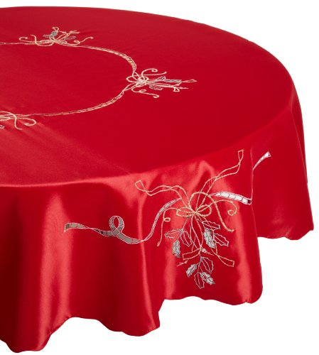 Lenox Holiday Nouveau Tablecloth, 70-Inch Round,