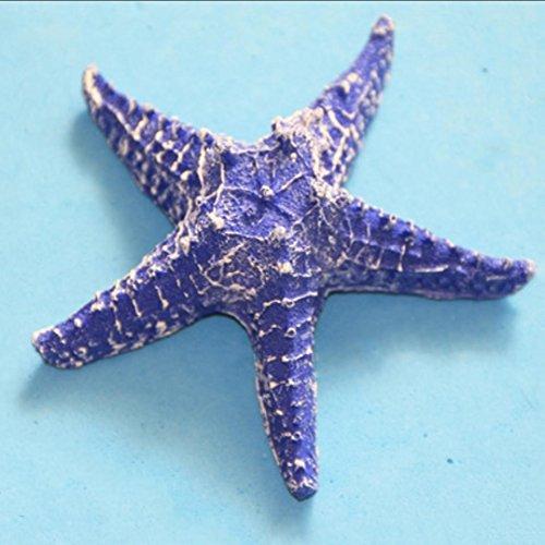 Résine artisanat couleur étoiles de mer Décoration murale Décorations de la maison pendante Options de couleurs multiples (rouge, rose, bleu, bleu foncé, blanc, jaune) , deep blue , 13cm