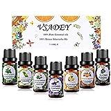 VSADEY Top 7 Aceites esenciales para humidificador Aceites esenciales aromaterapia Difusor aromaterapia SPA,Masajes,Relajarse,Set Essential Oils 100% Puro y Naturales