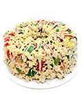 Feel like a hero- you found a gluten free birthday cake that's delicious and fun for all ages. Who doesn't love popcorn, marshmallow and candy? Fresh popcorn tossed in a marshmallow filling with chewy candy and gummy treats topped off with white driz...