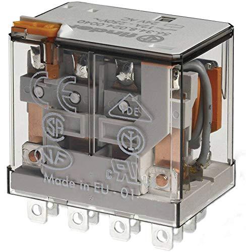 Finder serie 56 - Rele potencia 4 contactos agni 12vdc pulsador +indicador
