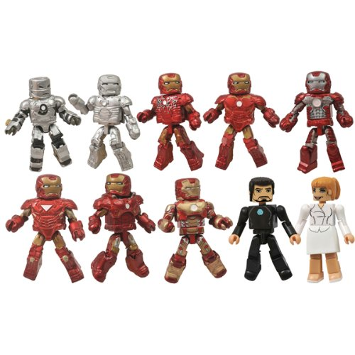 Marvel Minimates Iron Man 3 Hall of Armor Figure, 10-Pack