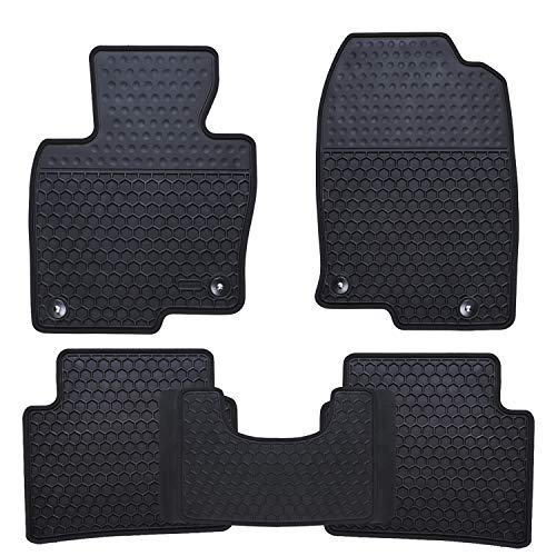 Ucaskin Car Floor Mats Custom Fit for Mazda CX 5 CX-5 SUV 2017 2018 2019 2020 2021 Odorless Washable Rubber Foot Heavy Duty Anti-Slip All Weather Car Floor Liner-Black