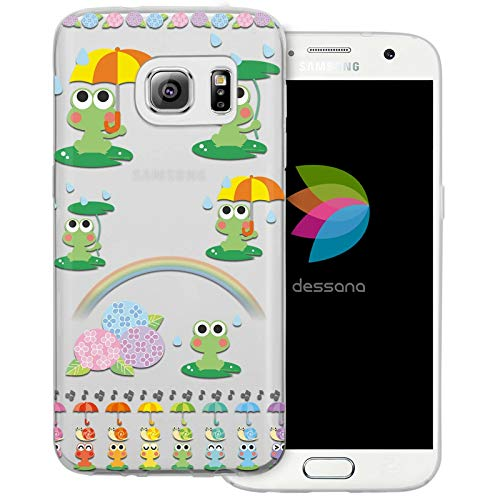 dessana Comic Tier Pattern durchsichtige Schutzhülle Handy Hülle Cover Tasche für Samsung Galaxy S7 Wetter Frösche