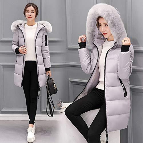 SWAQS donsjas winterjas vrouwen 2019 nieuwe vrouwelijke parka mantel lange jas plus maat lange capuchon jas vrouwen XXXL grijs